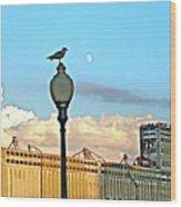 La Lune L'oiseau L'usine Wood Print
