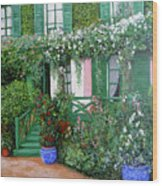 La Maison De Claude Monet Wood Print