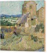 La Maison De La Crau The Old Mill Wood Print