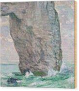 La Manneporte A Etretat Wood Print by Claude Monet