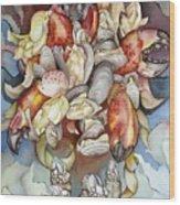 La Mer En Rouge Wood Print