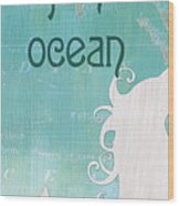 La Mer Mermaid 1 Wood Print