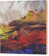 La Mer Rouge Wood Print
