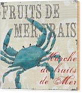 La Mer Shellfish 1 Wood Print by Debbie DeWitt