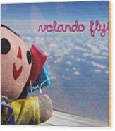La Mexicanita Flying Wood Print