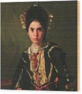 La Montera Segovia Girl In Fiesta Costume 1912 Wood Print