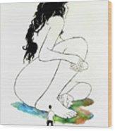 La Mutana Mujer Wood Print