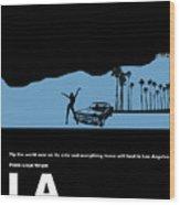 La Night Poster Wood Print