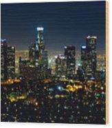 L.a. Night View Wood Print