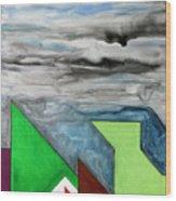 La Notte Sopra La Citta Verde - Part II Wood Print
