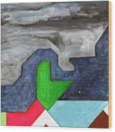 La Notte Sopra La Citta Verde - Part IIi Wood Print