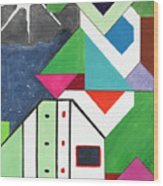 La Notte Sopra La Citta Verde - Part V Wood Print