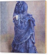 La Parisienne The Blue Lady  Wood Print