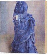 La Parisienne The Blue Lady  Wood Print by Pierre Auguste Renoir