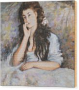 La Pensee My Reproduction Of Renoirs Work Wood Print