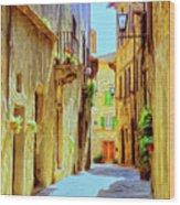 La Piccola Strada Wood Print