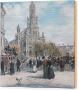 La Place De Trinite Wood Print