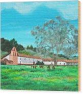 La Purisima Mission Wood Print