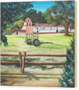 La Purisima With Fence Wood Print