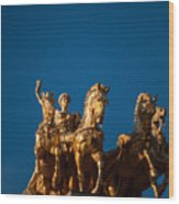 La Quadriga De L'aurora Wood Print