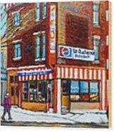 La Quebecoise Restaurant Montreal Wood Print