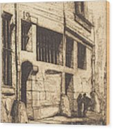 La Rue Des Mauvais Gar?ons, Paris (the Street Of The Bad Boys) Wood Print