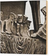 La Sagrada Familia Sculpture Wood Print