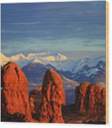 La Sal Mountains In Arches Np Utah Wood Print