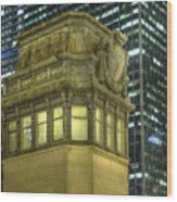 La Salle Street Bridge Control Tower 3 Wood Print