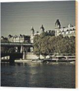 La Seine I Wood Print