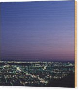 L.a. Sunset Wood Print