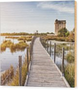 La Tour Carbonniere - Camargue - France Wood Print