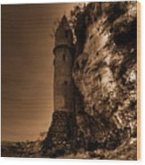 La Tour Darkly Wood Print