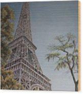 La Tour Eiffel 2 Wood Print