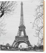 La Tour Eiffel, Paris Wood Print