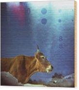 La Vache Numerique Wood Print