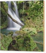 La Vaioaga Waterfall Wood Print