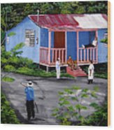 La Vida En Las Montanas De Moca Wood Print
