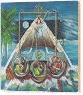 La Virgen De La Caridad Del Cobre En Miami Wood Print