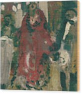 Laboheme Act 2 Cafescene Wood Print