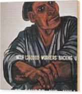 Labor Poster, 1930s Wood Print