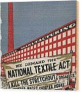 Labor Poster, 1935 Wood Print