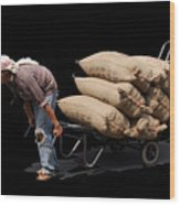 Labor Worker Wood Print