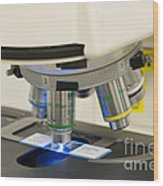 Laboratory Fluorescent Microscope Wood Print