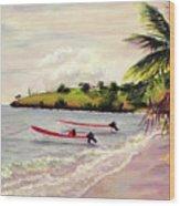 Laborie Beach  Wood Print