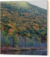 Labrador Pond Hillside Wood Print