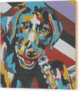 Labrador Puppy  Wood Print