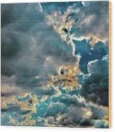 Labradorite Rain Wood Print