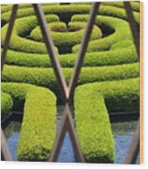 Labyrinth At The Getty Wood Print