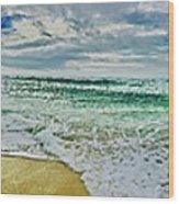 Lacanau Plage Panoramique Wood Print